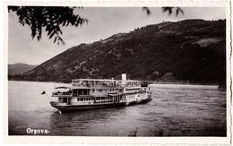 "ORSOVA : BATEAU "" JUPITER "" Sur DANUBE - CARTE VRAIE PHOTO / REAL PHOTO POSTCARD - ANNÉE / YEAR ~ 1930 - '935 (aa954) - Roumanie"