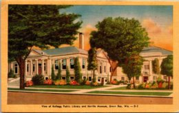 Wisconsin Green Bay Kellogg Public Library And Neville Museum 1947 Dexter Press - Green Bay