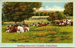 Wisconsin Greetings From Eau Claire 1951 - Eau Claire
