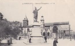 BORDEAUX. STATUE DE VERCINGTORIX. CB. CPA CIRCA 1900s - BLEUP - Bordeaux