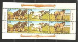 New Zealand 1984 Health Charity Miniature Sheet Horse Clydesdale Shetland Thoroughbred  MNH - New Zealand