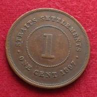 Straits Settlement 1 Cent 1897 - Coins