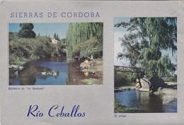 SIERRAS DE CORDOBA. RIO CEBALLOS.  ED CARLOS CABRERA PAULI. CPA VOYAGEE CIRCA 1951 - BLEUP - Argentina