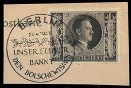 DEUTSCHES REICH 1943 Nr 844 Zentrisch Gestempelt Briefstück X8B526A - Allemagne