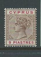 Cyprus 1894 9 Piastre QV FM - Cyprus (Republic)