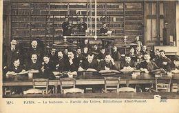 Paris - La Sorbonne, Faculté De Lettres, Bibliothèque Albert Dumont, Etudiants - Carte ND Phot. N° 1635 Non Circulée - Education, Schools And Universities
