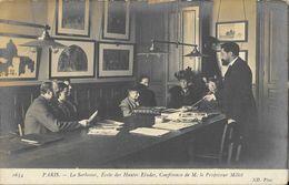 Paris - La Sorbonne, Ecole Des Hautes Etudes, Conférence De M. Le Professeur Millet - Carte ND Phot N° 1634 Non Circulée - Enseignement, Ecoles Et Universités