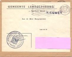 Omslag Enveloppe - Gemeente Leopoldsburg - Stempel 1957 - Entiers Postaux