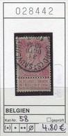 Belgien - Belgique -  Belgium - Belgie - Michel 58 - Oo Oblit. Used Gebruikt - 1893-1900 Schmaler Bart
