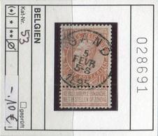 Belgien - Belgique -  Belgium - Belgie - Michel 53 - Oo Oblit. Used Gebruikt - 1893-1900 Schmaler Bart