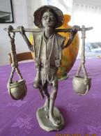 Bronze Artisanal, Porteur D'eau, Burkina Faso - Art Africain