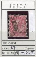 Belgien - Belgique -  Belgium - Belgie - Michel 67 - Oo Oblit. Used Gebruikt - 1893-1900 Schmaler Bart