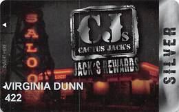 Cactus Jack's Rewards Players Card Las Vegas, NV - Slot Card - Casino Cards