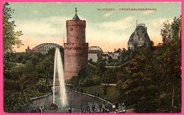 Nijmegen - Kronenburgerpark - Tour - Etang - Fontaine - Spoorbrug - Kunstchromo J. H. SCHAEFER - Nijmegen