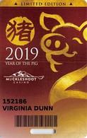 Muckleshoot Casino - Auburn, WA  - Rare Limited Edition 2019 Year Of The Pig Slot Card - Casino Cards