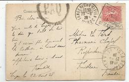 N° 199 CARTE DAGUIN TANGER CHERIFIEN 23.8.1928 MAROC - 1903-60 Semeuse Lignée