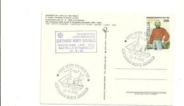 BATTELLO STAMBECCO  LAGO  MAGGIORE  GARIBALDI   TEMATICA   SESTO  CALENDE  1982  CENTENARIO  DELLA  MORTE - Italy