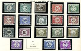 Belgique Taxes 1922 ** COB 32/48 Et 63 - Timbres