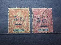 VEND TIMBRES DE LA REUNION N° 52 + 53 !!! - Reunion Island (1852-1975)