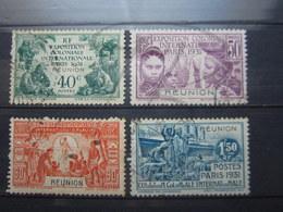 VEND TIMBRES DE LA REUNION N° 119 - 122 !!! - Reunion Island (1852-1975)