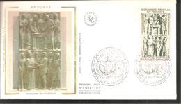 FDC ANDORRE 1979  MONUMENT DES CO PRINCES - FDC