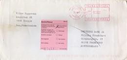 Macedonia Letter Via Germany 2002 - RETOUR - Red Machine Postmark - Macédoine