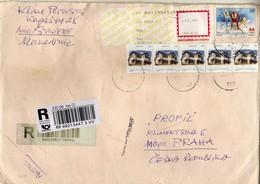 BIG COVER - Macedonia REGISTERED Letter Via Czech Republic 2012 - RETOUR - Macédoine