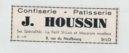 Publicité Saint Lô Houssin Confiserie Pâtisserie Petit Saint Lois Macarons Moelleux - Publicités
