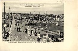 Cp Berlin Tiergarten Moabit, Deutsche Armee-, Marine- Und Kolonialausstellung 1907, Brieftauben - Deutschland