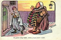 ALGERIE - CPA ILLUSTRATEUR DRAECK - TA PORTE I DROP BIDITE AICHA JI AS POUVOIR RENTRIR - Altri