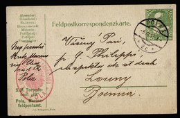 A6017) Österreich Austria Feldpostkarte Pola 05.03.15 SM Torpedoboot 19 - 1850-1918 Imperium