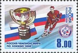 Russia 2008 Russia - World Hockey Champion.MNH - Unused Stamps
