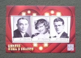 Poland 2018 - Mint MNH ** - Souvenir Sheet - Cinema --- Block Kino , Pologne Polen Polonia --- 341 Zn - 1944-.... République