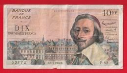"""BILLET DE 10 NF """" RICHELIEU """" DU 5-5-1960 P.82 - 10 NF 1959-1963 ''Richelieu''"""