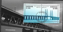 2018 Schweden   Mi. Bl 57 Used   Europa: Brücken. - 2018