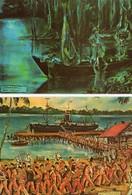 Cayenne. 2 CPA.  Dessins De Francis Lagrange, Bagne, L'évasion Avant L'aventure, Débarquement Au Maroni - Gevangenis