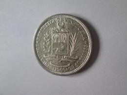 Venezuela 1 Bolivar 1960 Silver Coin In Very Good Conditions - Venezuela