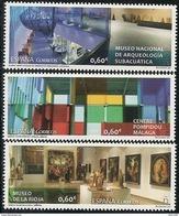 2017-ED. 5132 A 5134 SERIE COMPLETA -MUSEOS. Museo Nacional De Arqueología Subacuatica. Centre Pompidou De Malaga. Museo - 2011-... Neufs