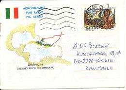 Italy Aerogramme Sent To Germany 17-7-1993 (Celebrazioni Colombiane) - 6. 1946-.. Republic