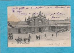 Laon. - Place De La Gare. - Chemin De Fer. - Laon