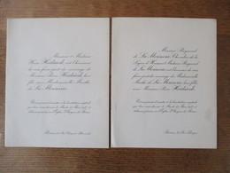 REIMS LE 15 MARS 1927 MADEMOISELLE MARTHE DE LA MORINERIE ET MONSIEUR PIERRE HEIDSIECK - Mariage