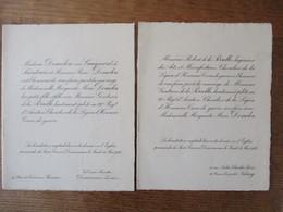 DOUARNENEZ LE 11 MAI 1922 MADEMOISELLE MARGUERITE,MARIE DEMOLON ET MONSIEUR GONTRAN DE LA PERELLE LIEUTENANT PILOTE - Wedding