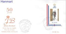 Netherlands Antilles 1987 Mi Bl31b FDC ( FDC ZS2 DTAbl31b ) - Familles Royales