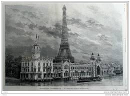 Exposition Universelle - Le Palais Des Produits Alimentaires - Page Original - 1889 - Historical Documents