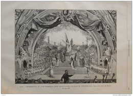Paris - Représentation De L'Ode Triomphale De Mme Augusta Holmés - Page Original 1889 - Documents Historiques