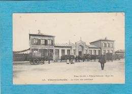 Villers-Cotterêts. - La Gare, Vue Extérieure. - Attelage. - Villers Cotterets