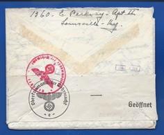Lettre En Provenance Des Etats Unis Avec Bande Censure  Aigle Et Croix  Oblitération: LOUISVILLE 12/11/1941 - 1939-45