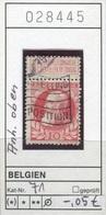 Belgien - Belgique -  Belgium - Belgie - Michel 71 - Oo Oblit. Used Gebruikt - 1905 Breiter Bart