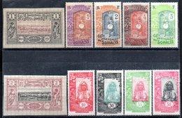 Côte Française Des Somalis Franz. Somaliküste Y&T 6*, 7*, 83**, 84* - 87*, 91*, 92**, 94* - Französich-Somaliküste (1894-1967)