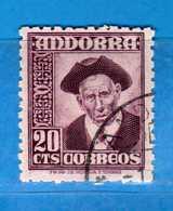 (Us3) )  ANDORRA °- 1948 . Soggetti Vari - UNIF. 42.  Vedi Descrizione. - Andorra Spagnola